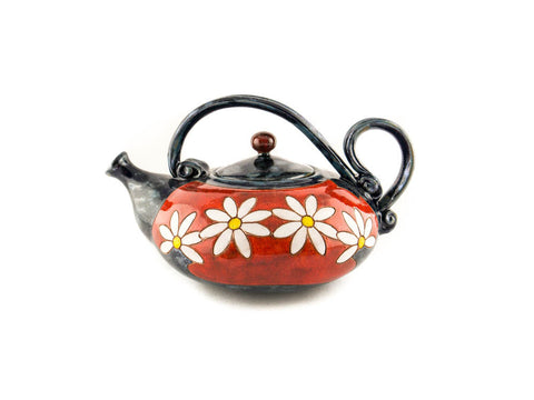 Handmade Ceramic Teapot 40oz Daisy - Handmade Ceramics and pottery | Teapots, Coffee and Tea Mugs, Vases, Bowls, Plates, Ashtrays | Handmade stoneware - 1