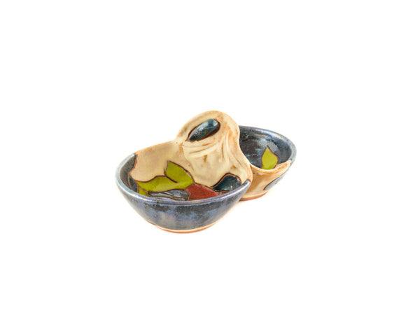 "Handmade Ceramic Salt Cellar 5.5"" Calla - Handmade Ceramics and pottery 
