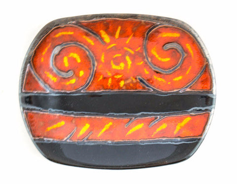 "Handmade Ceramic Plate 9"" Fire - Handmade Ceramics and pottery 