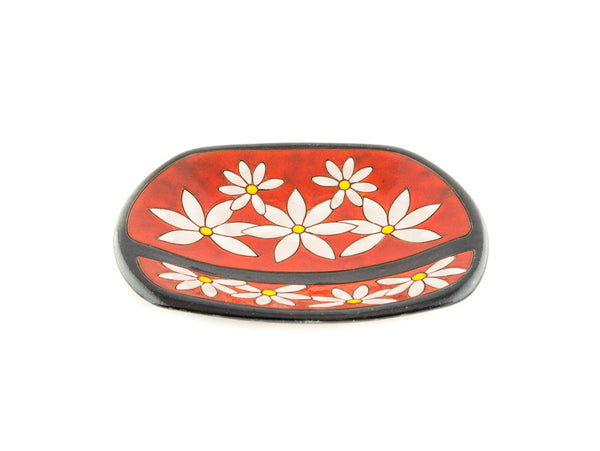 "Handmade Ceramic Fruit Plate 9"" Daisy - Handmade Ceramics and pottery 
