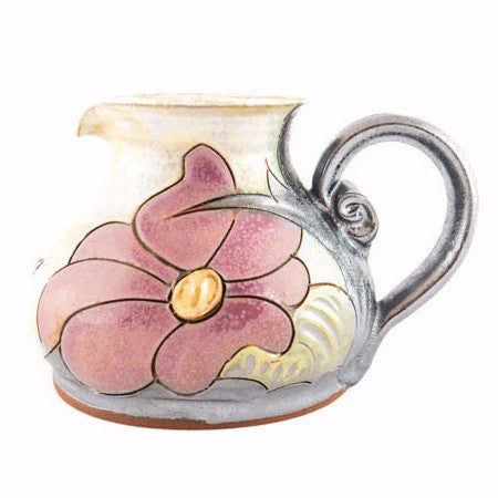 Handmade Ceramic Creamer 8.5oz Flower - Handmade Ceramics and pottery | Teapots, Coffee and Tea Mugs, Vases, Bowls, Plates, Ashtrays | Handmade stoneware - 1