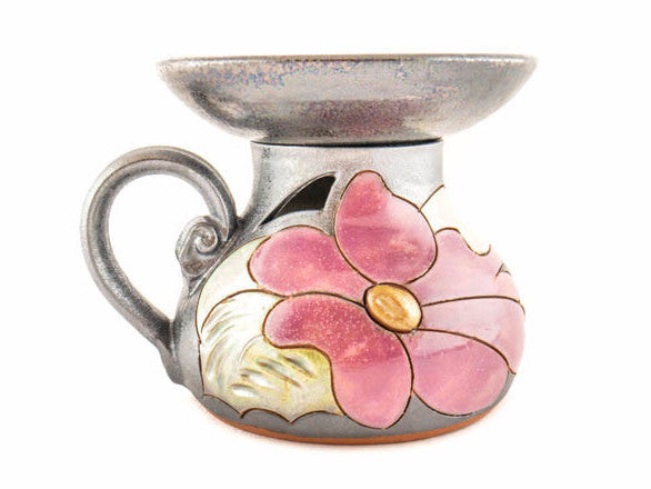 Ceramic Essential Oil Burner - Flower - Handmade Ceramics and pottery | Teapots, Coffee and Tea Mugs, Vases, Bowls, Plates, Ashtrays | Handmade stoneware - 1