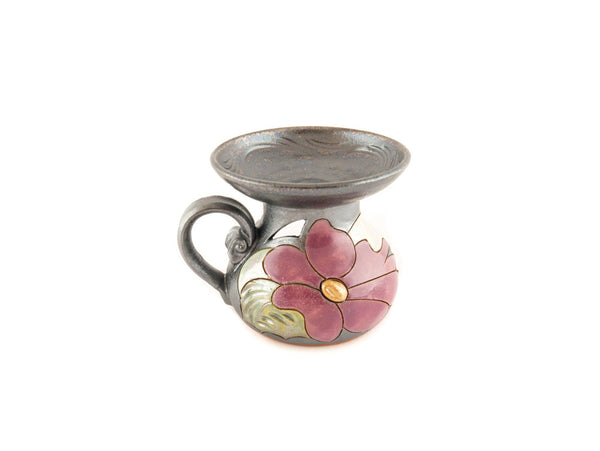 Ceramic Essential Oil Burner - Flower - Handmade Ceramics and pottery | Teapots, Coffee and Tea Mugs, Vases, Bowls, Plates, Ashtrays | Handmade stoneware - 2
