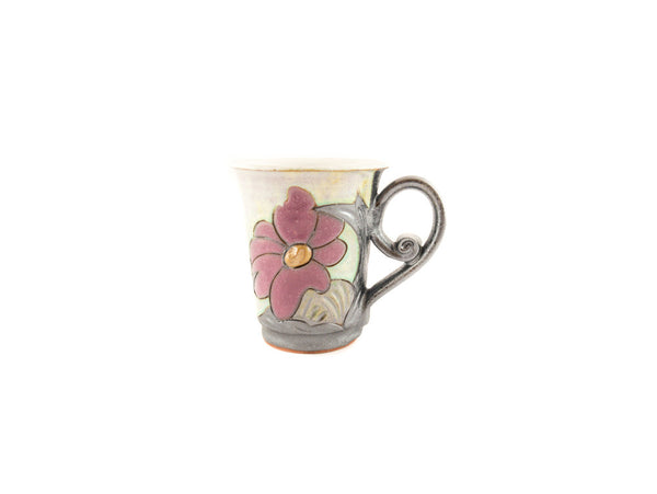 Handmade Pottery Coffee Mug 6.7oz Flower - Handmade Ceramics and pottery | Teapots, Coffee and Tea Mugs, Vases, Bowls, Plates, Ashtrays | Handmade stoneware - 5