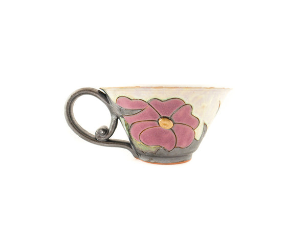 Handmade Ceramic Soup Cup 16oz Flower - Handmade Ceramics and pottery | Teapots, Coffee and Tea Mugs, Vases, Bowls, Plates, Ashtrays | Handmade stoneware - 2