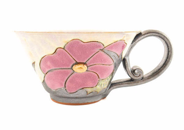 Handmade Ceramic Soup Cup 16oz Flower - Handmade Ceramics and pottery | Teapots, Coffee and Tea Mugs, Vases, Bowls, Plates, Ashtrays | Handmade stoneware - 1