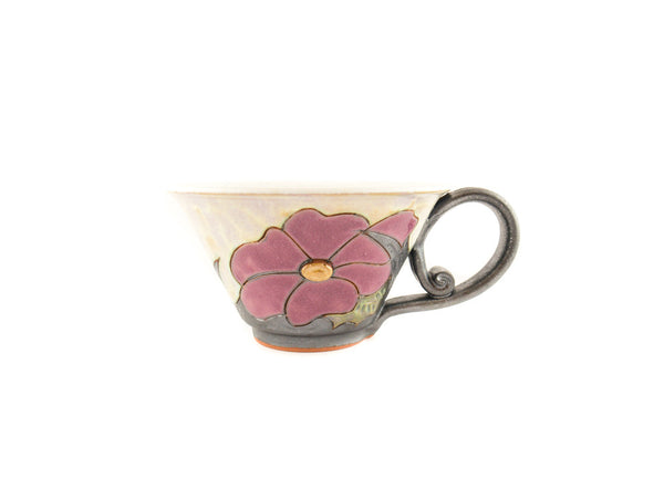 Handmade Ceramic Soup Cup 16oz Flower - Handmade Ceramics and pottery | Teapots, Coffee and Tea Mugs, Vases, Bowls, Plates, Ashtrays | Handmade stoneware - 6