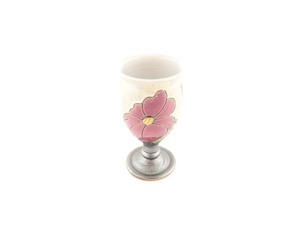 Handmade Ceramic Wine Goblet 11.8oz Flower - Handmade Ceramics and pottery | Teapots, Coffee and Tea Mugs, Vases, Bowls, Plates, Ashtrays | Handmade stoneware - 4