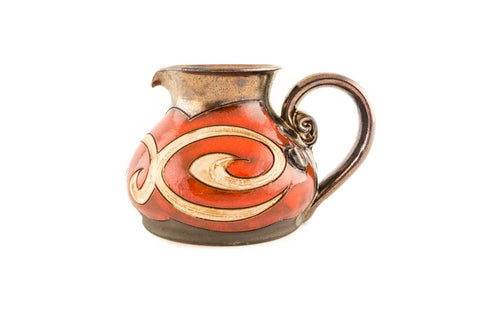 Handmae Pottery Creamer 8.5oz - Handmade Ceramics and pottery | Teapots, Coffee and Tea Mugs, Vases, Bowls, Plates, Ashtrays | Handmade stoneware - 1