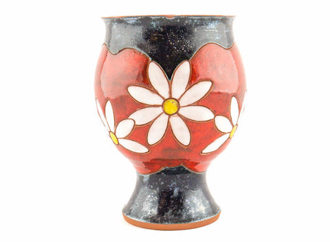 Handmade Ceramic Wine Glass 9oz Daisy - Handmade Ceramics and pottery | Teapots, Coffee and Tea Mugs, Vases, Bowls, Plates, Ashtrays | Handmade stoneware - 1