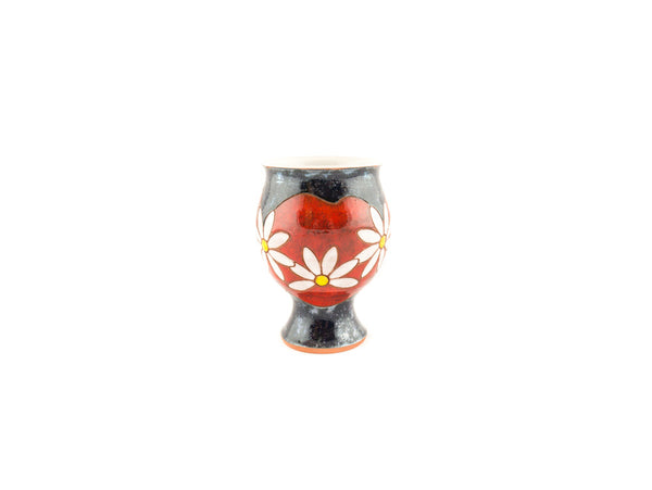 Handmade Ceramic Wine Glass 9oz Daisy - Handmade Ceramics and pottery | Teapots, Coffee and Tea Mugs, Vases, Bowls, Plates, Ashtrays | Handmade stoneware - 3