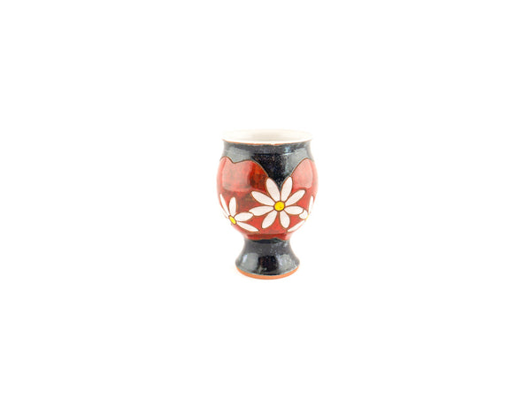 Handmade Ceramic Wine Glass 9oz Daisy - Handmade Ceramics and pottery | Teapots, Coffee and Tea Mugs, Vases, Bowls, Plates, Ashtrays | Handmade stoneware - 4