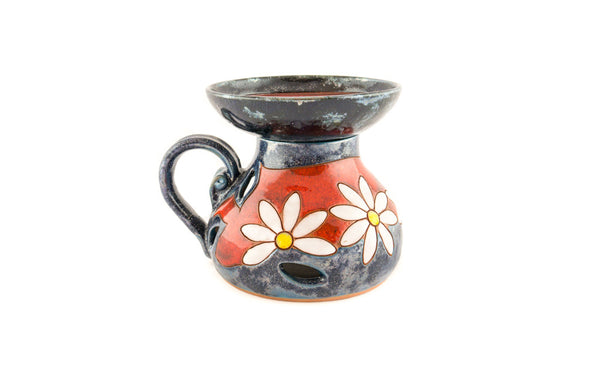 Ceramic Essential Oil Burner - Daisy - Handmade Ceramics and pottery | Teapots, Coffee and Tea Mugs, Vases, Bowls, Plates, Ashtrays | Handmade stoneware - 2