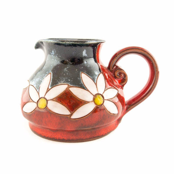 Pottery Creamer 8.5oz Daisy - Handmade Ceramics and pottery | Teapots, Coffee and Tea Mugs, Vases, Bowls, Plates, Ashtrays | Handmade stoneware - 1