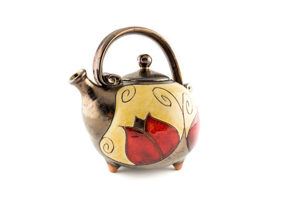 Handmade Ceramic Teapot 37oz Tulip - Handmade Ceramics and pottery | Teapots, Coffee and Tea Mugs, Vases, Bowls, Plates, Ashtrays | Handmade stoneware - 2