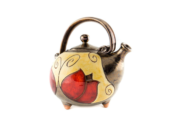 Handmade Ceramic Teapot 37oz Tulip - Handmade Ceramics and pottery | Teapots, Coffee and Tea Mugs, Vases, Bowls, Plates, Ashtrays | Handmade stoneware - 3