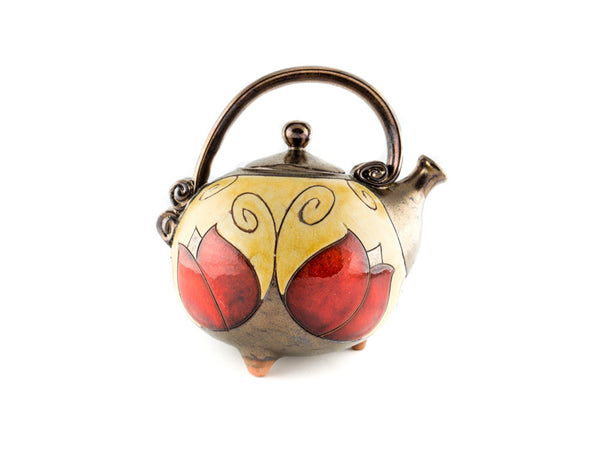 Handmade Ceramic Teapot 37oz Tulip - Handmade Ceramics and pottery | Teapots, Coffee and Tea Mugs, Vases, Bowls, Plates, Ashtrays | Handmade stoneware - 4