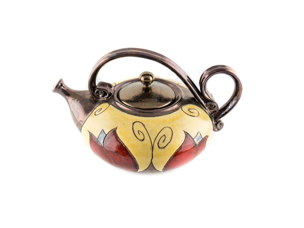 Handmade Ceramic Teapot 40oz Tulip - Handmade Ceramics and pottery | Teapots, Coffee and Tea Mugs, Vases, Bowls, Plates, Ashtrays | Handmade stoneware - 3