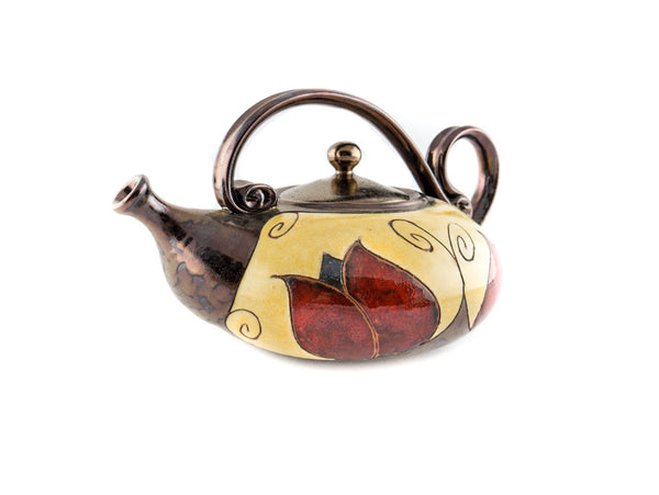 Handmade Ceramic Teapot 40oz Tulip - Handmade Ceramics and pottery | Teapots, Coffee and Tea Mugs, Vases, Bowls, Plates, Ashtrays | Handmade stoneware - 4