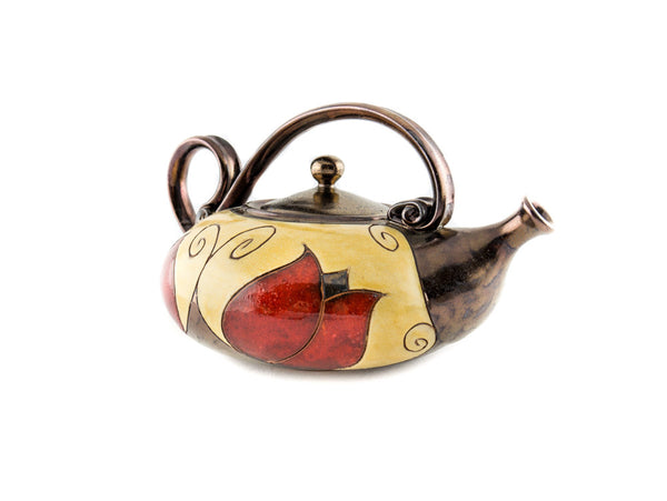 Handmade Ceramic Teapot 40oz Tulip - Handmade Ceramics and pottery | Teapots, Coffee and Tea Mugs, Vases, Bowls, Plates, Ashtrays | Handmade stoneware - 5