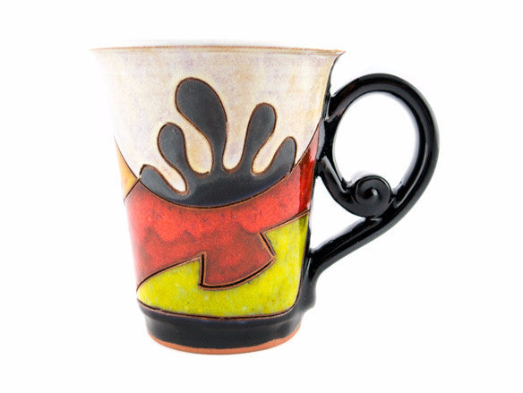Handmade Pottery Coffee Mug 6.7oz Ethno