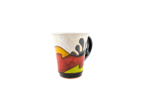 Handmade Pottery Coffee Mug 6.7oz Ethno -
