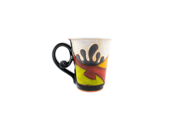 Handmade Pottery Coffee Mug 6.7oz Ethno - Handmade Ceramics and pottery