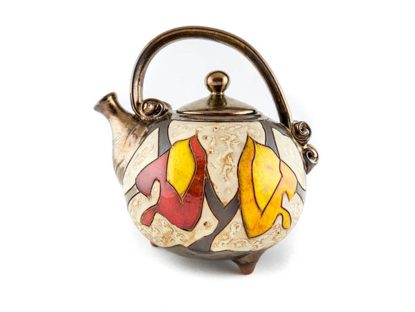 Handmade Ceramic Teapot 37oz Autumn - Handmade Ceramics and pottery | Teapots, Coffee and Tea Mugs, Vases, Bowls, Plates, Ashtrays | Handmade stoneware - 1
