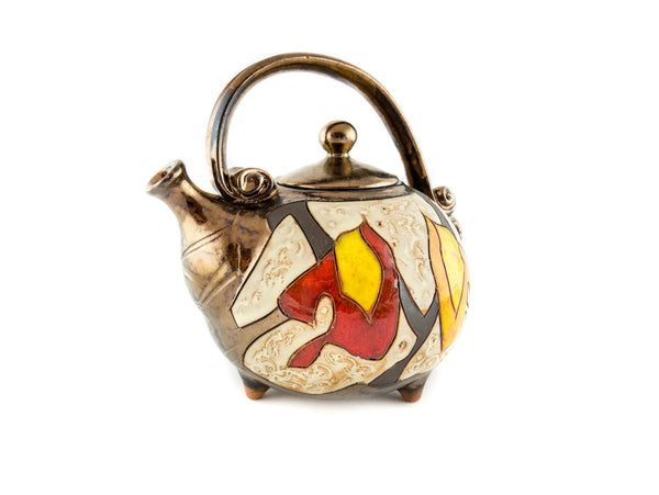 Handmade Ceramic Teapot 37oz Autumn - Handmade Ceramics and pottery | Teapots, Coffee and Tea Mugs, Vases, Bowls, Plates, Ashtrays | Handmade stoneware - 4