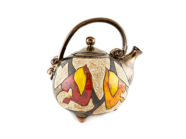 Handmade Ceramic Teapot 37oz Autumn - Handmade Ceramics and pottery | Teapots, Coffee and Tea Mugs, Vases, Bowls, Plates, Ashtrays | Handmade stoneware - 2