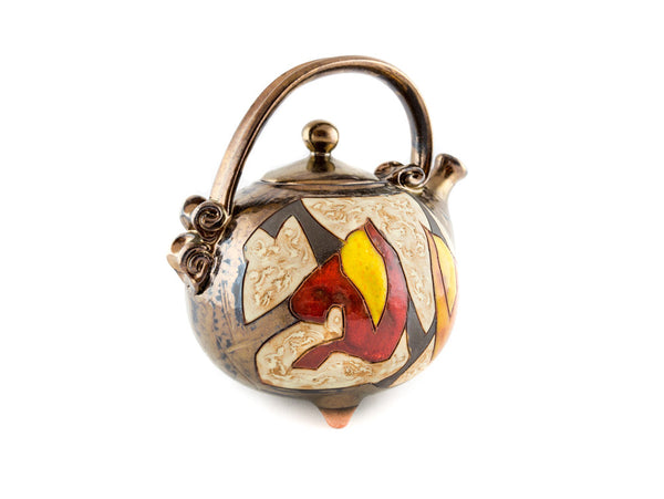 Handmade Ceramic Teapot 37oz Autumn - Handmade Ceramics and pottery | Teapots, Coffee and Tea Mugs, Vases, Bowls, Plates, Ashtrays | Handmade stoneware - 3