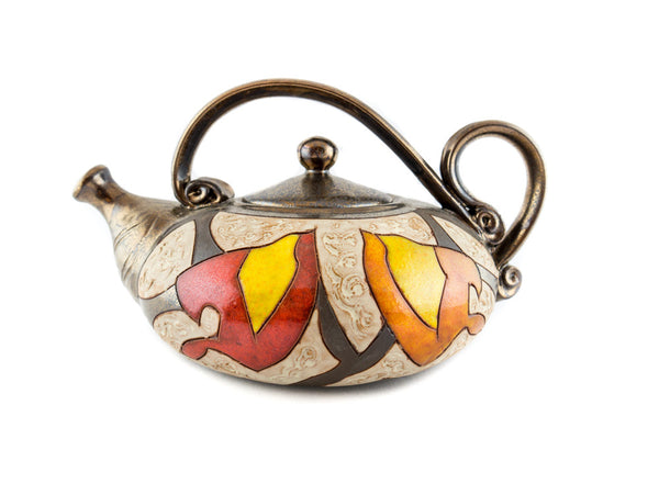 Handmade Pottery Teapot 40oz Autumn - Handmade Ceramics and pottery | Teapots, Coffee and Tea Mugs, Vases, Bowls, Plates, Ashtrays | Handmade stoneware - 3