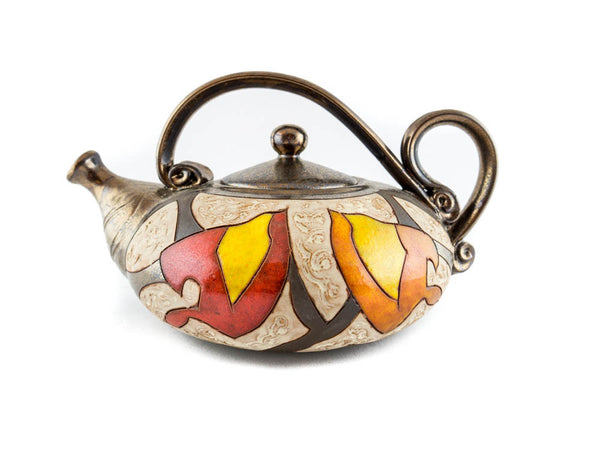 Handmade Pottery Teapot 40oz Autumn - Handmade Ceramics and pottery | Teapots, Coffee and Tea Mugs, Vases, Bowls, Plates, Ashtrays | Handmade stoneware - 1