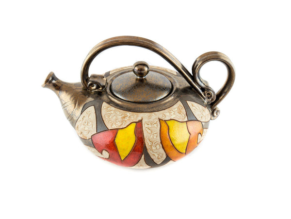 Handmade Pottery Teapot 40oz Autumn - Handmade Ceramics and pottery | Teapots, Coffee and Tea Mugs, Vases, Bowls, Plates, Ashtrays | Handmade stoneware - 4
