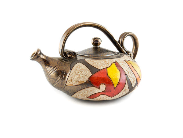 Handmade Pottery Teapot 40oz Autumn - Handmade Ceramics and pottery | Teapots, Coffee and Tea Mugs, Vases, Bowls, Plates, Ashtrays | Handmade stoneware - 5