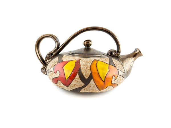 Handmade Pottery Teapot 40oz Autumn - Handmade Ceramics and pottery | Teapots, Coffee and Tea Mugs, Vases, Bowls, Plates, Ashtrays | Handmade stoneware - 2