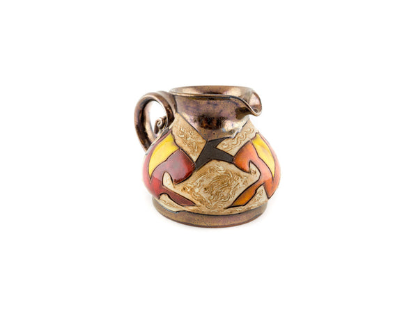 Handmade Pottery Creamer 8.5oz Autumn collection Tivelasi Pottery