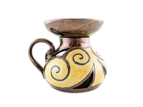 Ceramic Essential Oil Burner - Gold - Handmade Ceramics and pottery | Teapots, Coffee and Tea Mugs, Vases, Bowls, Plates, Ashtrays | Handmade stoneware - 1