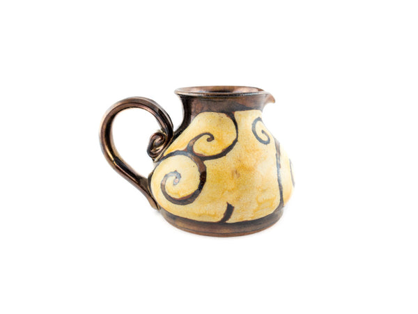 Handmade Pottery Creamer 8.5oz - Handmade Ceramics and pottery | Teapots, Coffee and Tea Mugs, Vases, Bowls, Plates, Ashtrays | Handmade stoneware - 4