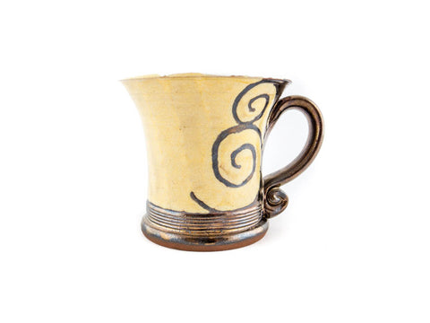Handmade Pottery Coffee Mug 4.7oz With Gold Decoration - Handmade Ceramics and pottery | Teapots, Coffee and Tea Mugs, Vases, Bowls, Plates, Ashtrays | Handmade stoneware - 1