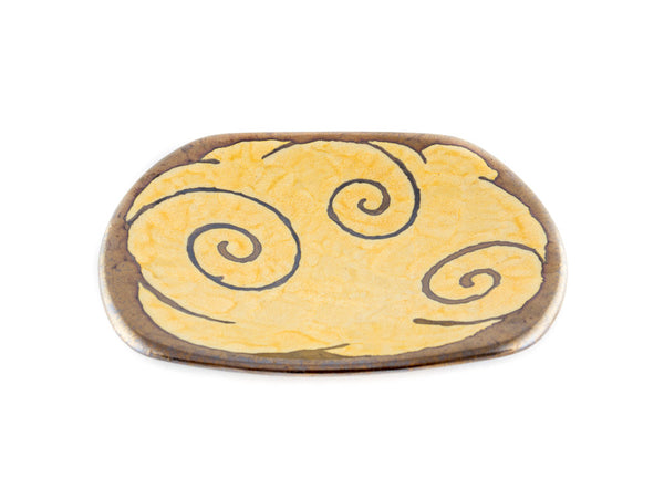 "Handmade pottery Plate 9"" Gold - Handmade Ceramics and pottery 