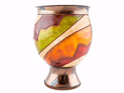 Ceramic Wine Goblet Cherga Style - Handmade Ceramics and pottery | Teapots, Coffee and Tea Mugs, Vases, Bowls, Plates, Ashtrays | Handmade stoneware - 1