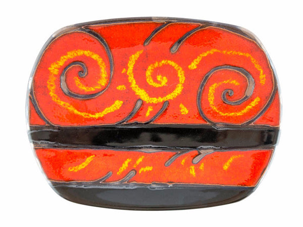 "Handmade Ceramic Platter 12"" Fire - Handmade Ceramics and pottery 