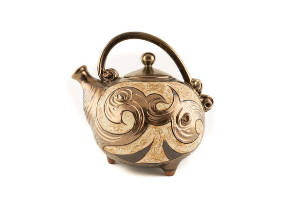 Handmade Ceramic Teapot 37oz Antique - Handmade Ceramics and pottery | Teapots, Coffee and Tea Mugs, Vases, Bowls, Plates, Ashtrays | Handmade stoneware - 1