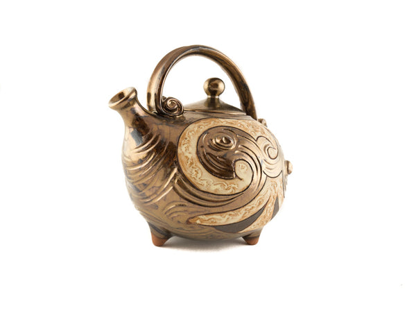 Handmade Ceramic Teapot 37oz Antique - Handmade Ceramics and pottery | Teapots, Coffee and Tea Mugs, Vases, Bowls, Plates, Ashtrays | Handmade stoneware - 2
