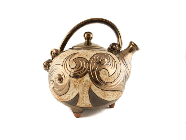 Handmade Ceramic Teapot 37oz Antique - Handmade Ceramics and pottery | Teapots, Coffee and Tea Mugs, Vases, Bowls, Plates, Ashtrays | Handmade stoneware - 4