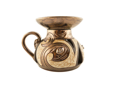 Ceramic Essential Oil Burner - Antique