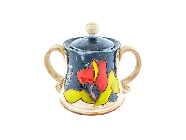 "Handmade Ceramic Sugar Bowl 4"" Calla - Handmade Ceramics and pottery 