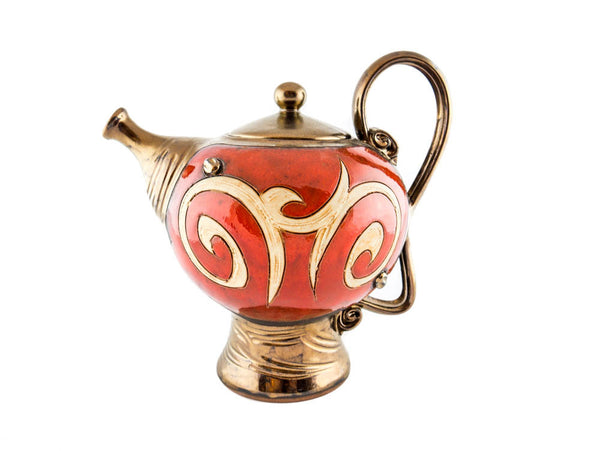 Orient Ceramic Teapot 50oz - Handmade Ceramics and pottery | Teapots, Coffee and Tea Mugs, Vases, Bowls, Plates, Ashtrays | Handmade stoneware - 1