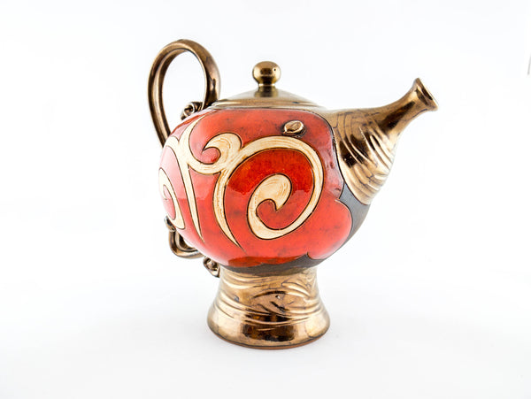 Orient Ceramic Teapot 50oz - Handmade Ceramics and pottery | Teapots, Coffee and Tea Mugs, Vases, Bowls, Plates, Ashtrays | Handmade stoneware - 3
